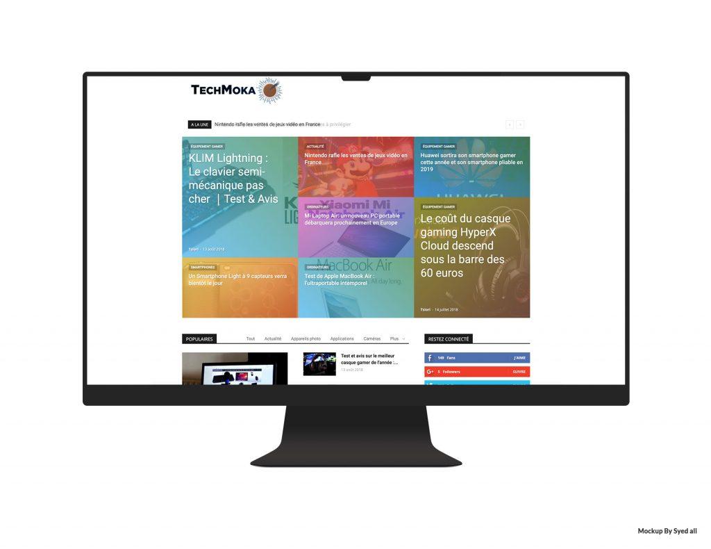Site TechMoka accueil