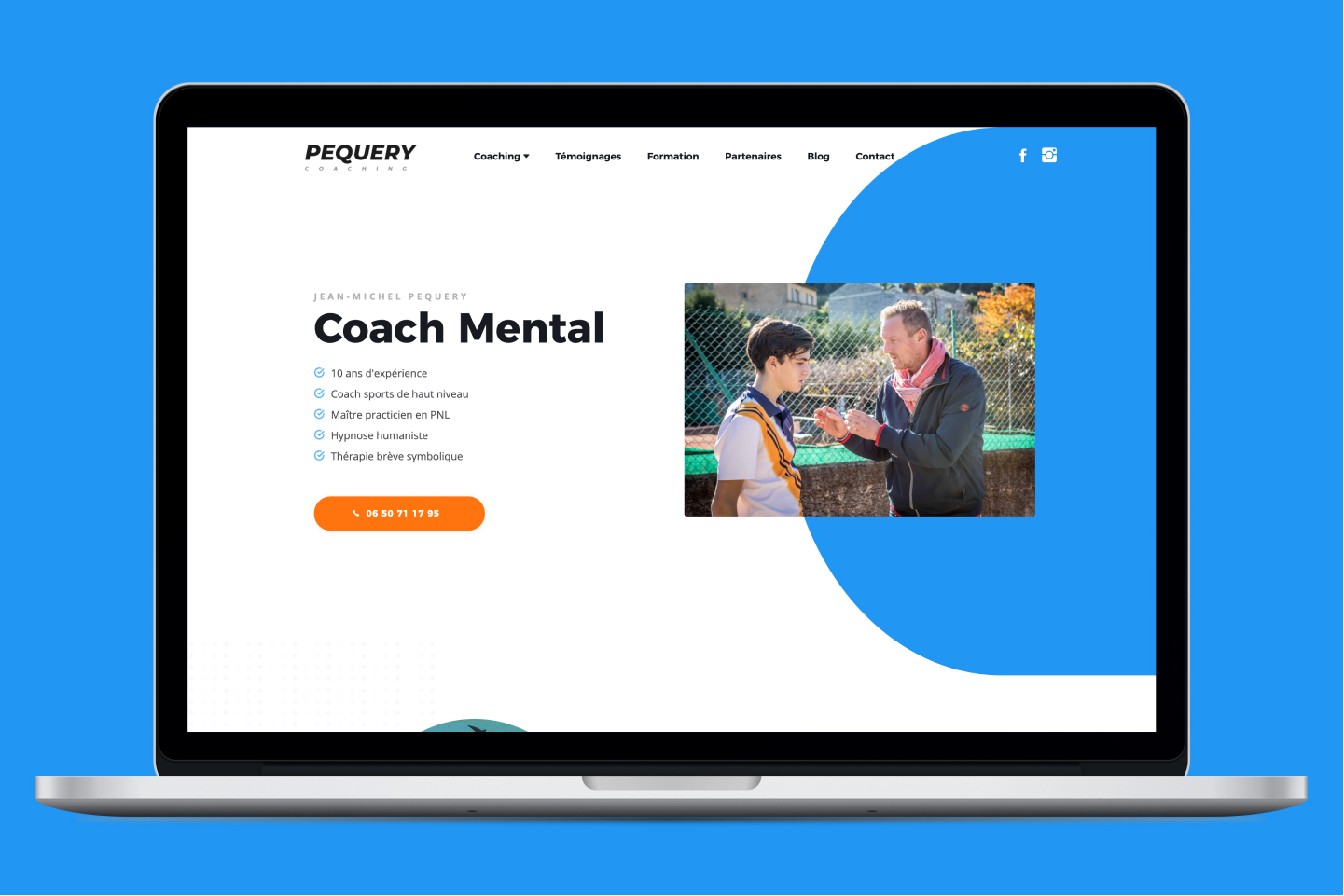 Création site internet Pequery Coaching